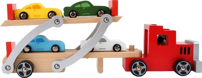 Small Foot Houten Autotransportvoertuig