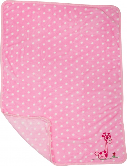 Small Foot Baby dekentje giraffe 100 x 80 cm roze