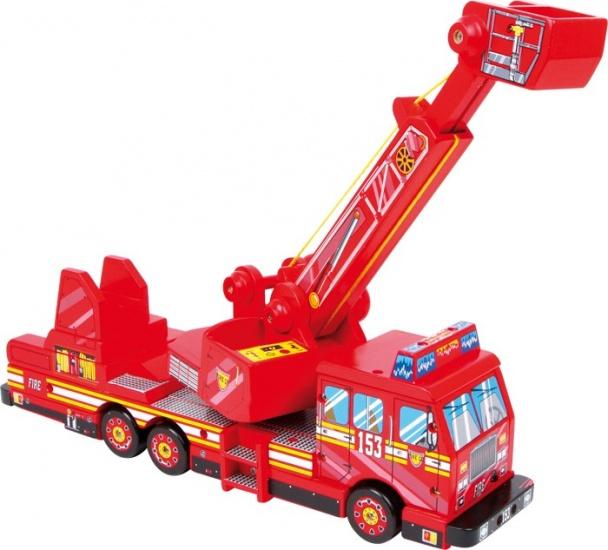 Small Foot Brandweer Truck Hout