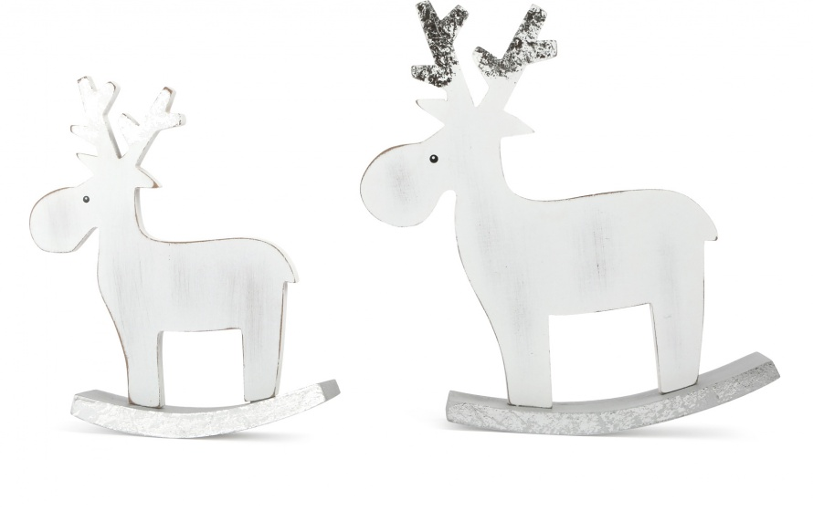 Small Foot decoratie eland wit hout 17 cm