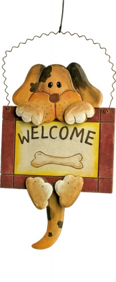 Small Foot Decoratiebord Welcome Hond en Poes 2 Stuks