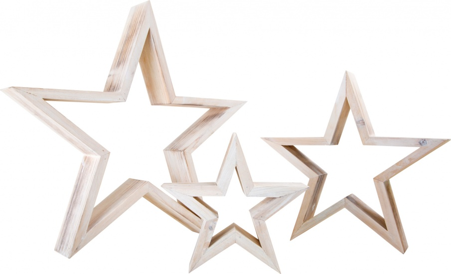 Small Foot Decoratieve houten sterren set grijs 3 stuks - Internet-Toys