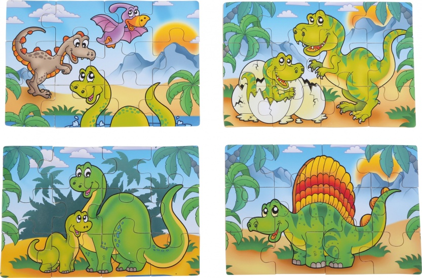 Small Foot Dino 4 in 1 puzzel hout