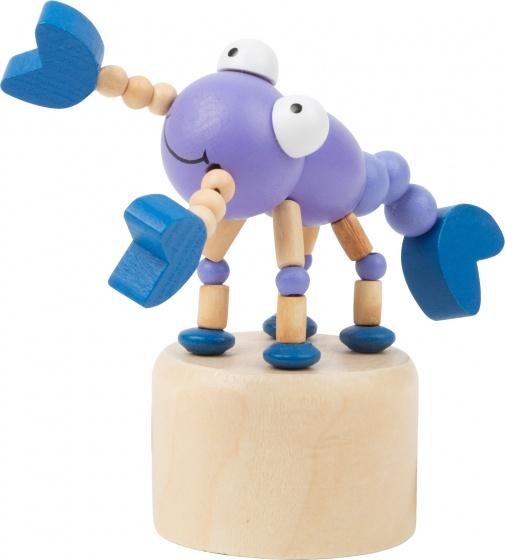 Small Foot drukfiguur kreeft blauw/paars 10 x 4 cm
