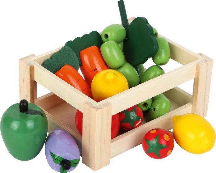 Pinolino kratje gevuld met houten groenten