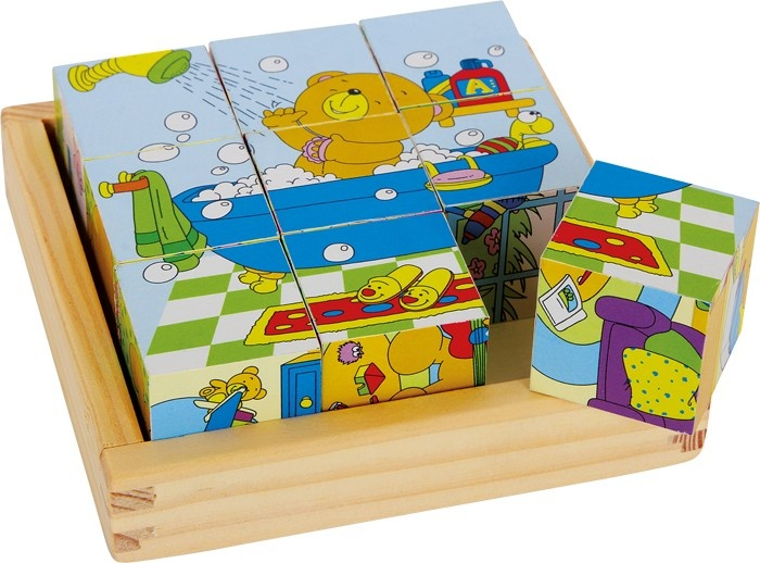 Small Foot Houten Blokpuzzel Beer Bruno 9 Blokken