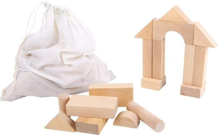 Small Foot Houten Bouwblokken: Blank 50 Stuks