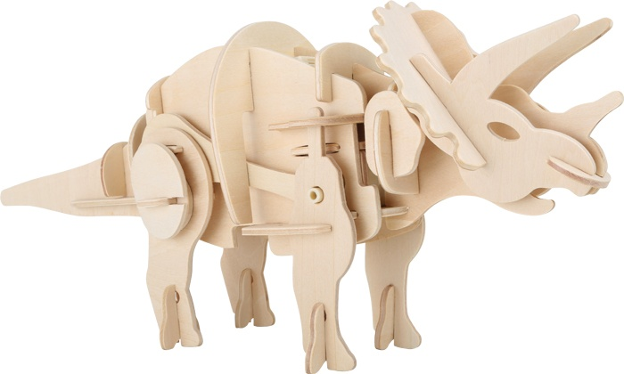 Small Foot Houten bouwpakket dino robot Triceratops