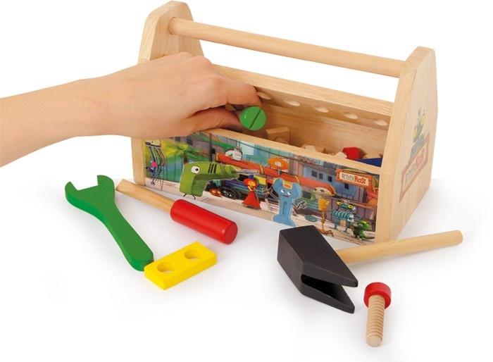 Schaukelpferd Holz Small Foot ~ Small Foot Houten Gereedschapskist Ridder Roest  Internet Toys