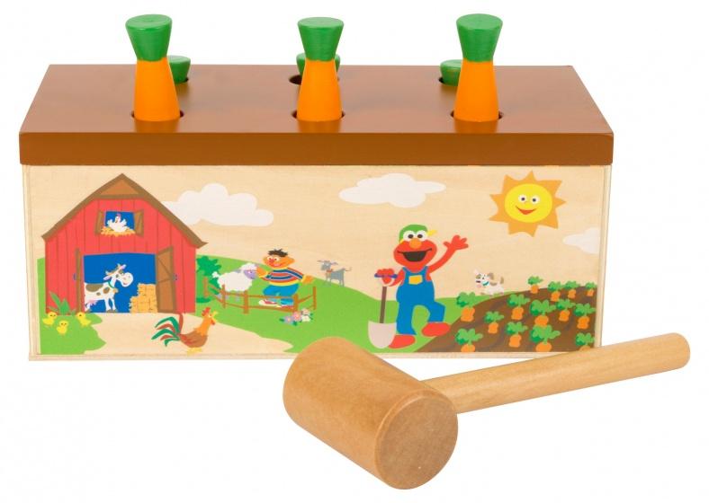 Small Foot houten hamerspel Sesamstraat 22 cm