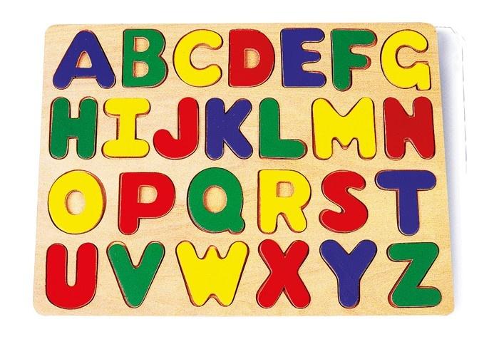 Small Foot Houten Insteekpuzzel Alfabet 22 X 32 X 1 cm