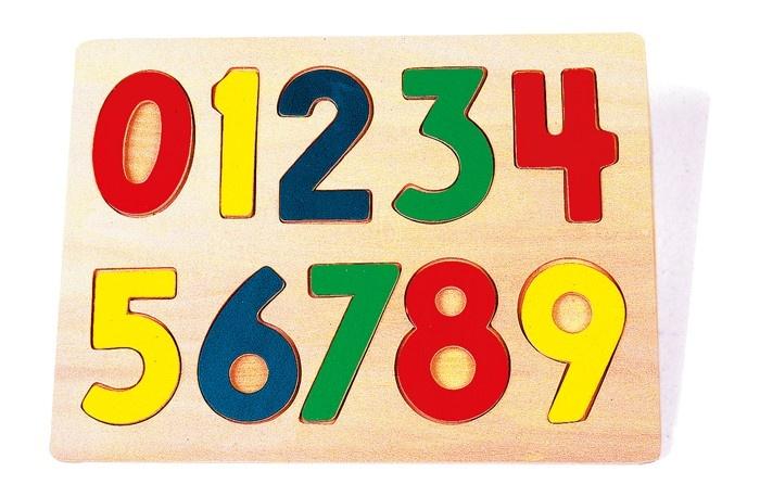 Small Foot Houten Insteekpuzzel Cijfers 22 X 32 X 1 cm
