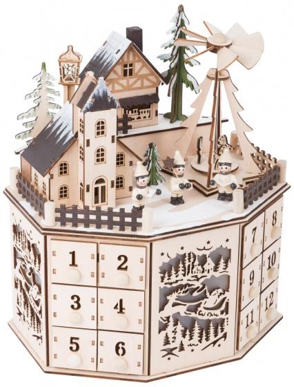 Small Foot houten kerstkalender 25 cm kopen