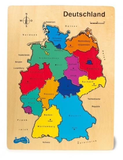 Small Foot Houten Puzzel Duitsland Deelstaten
