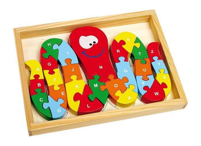 Small Foot Houten Puzzel Inktvis ABC