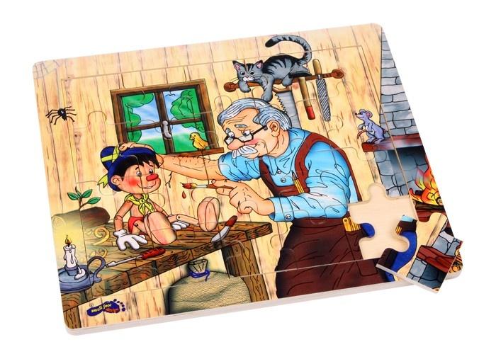 Small Foot Houten Puzzel Pinokkio's Werkplaats 20 Delig