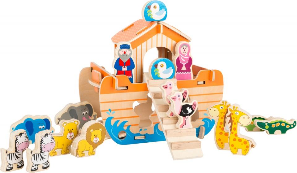 Small Foot houten speelset Ark van Noach 18 delig