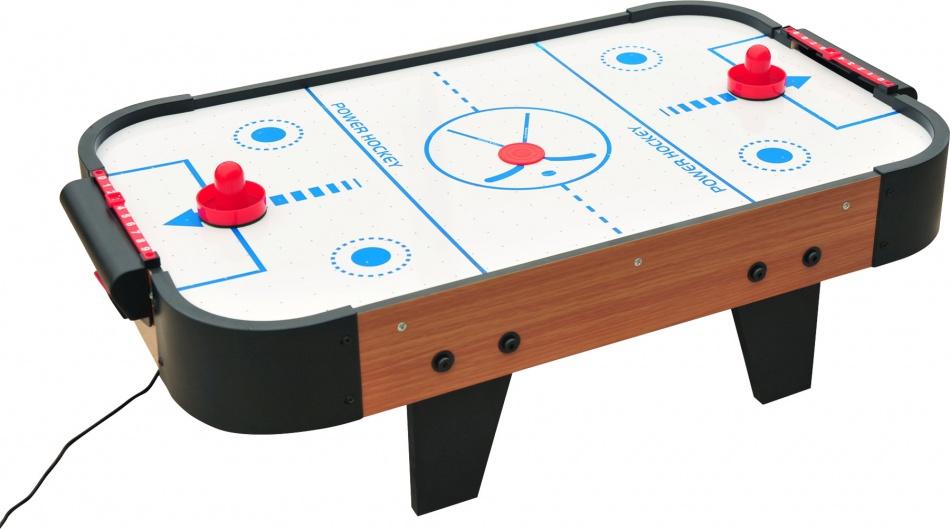 Small Foot Houten Airhockeyspel 75 x 41 x 20 cm zwart/wit