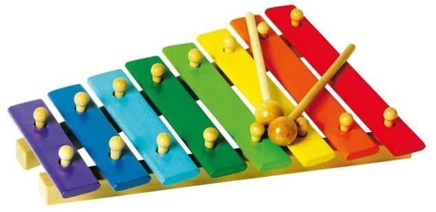 Small Foot Houten Xylofoon Bont 8 Noten 23 X 31 X 5 cm