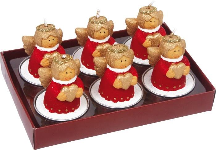 Small Foot Kaarsenset Van 6 Kerstengelen 5 x 3.5 cm