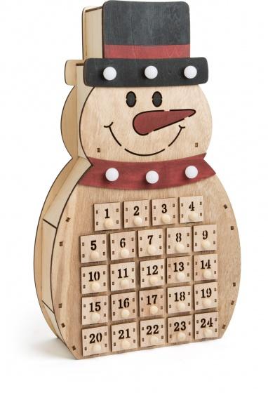 Small Foot Adventskalender sneeuwpop hout 40 x 23 x 8 cm kopen