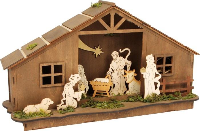 Small Foot Kerststal Met Verlichting 25 x 44 x 12 cm kopen