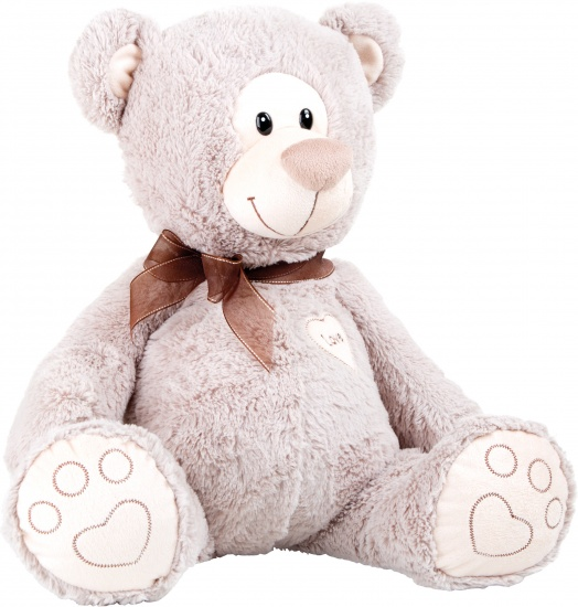 Small Foot Knuffel teddybeer Love pluche 38 x 38 x 43 cm bruin