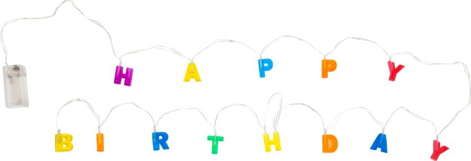 Small Foot lichtslinger Happy Birthday 230 cm