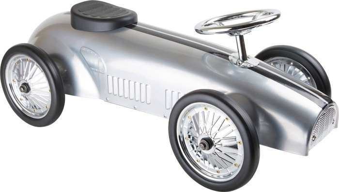Small Foot Walk Rally Car Silver
