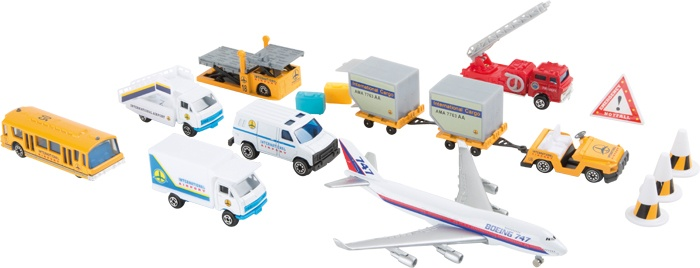 Small Foot modelauto´s Luchthaven 18 delig