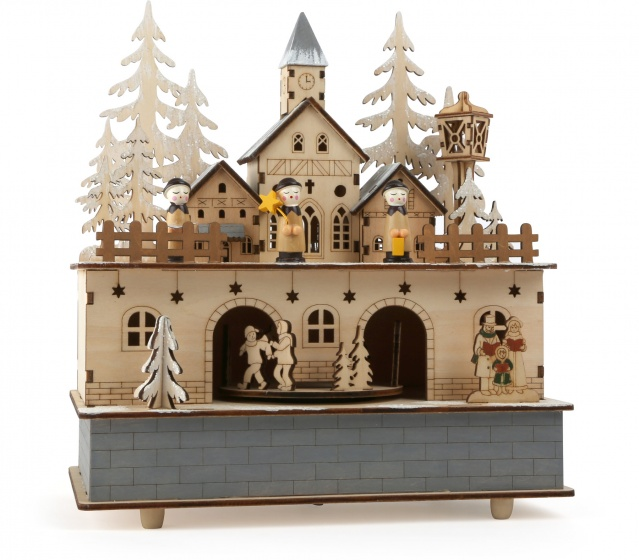 Small Foot muziekdoos kerstdorpje met licht 24 x 21 cm kopen