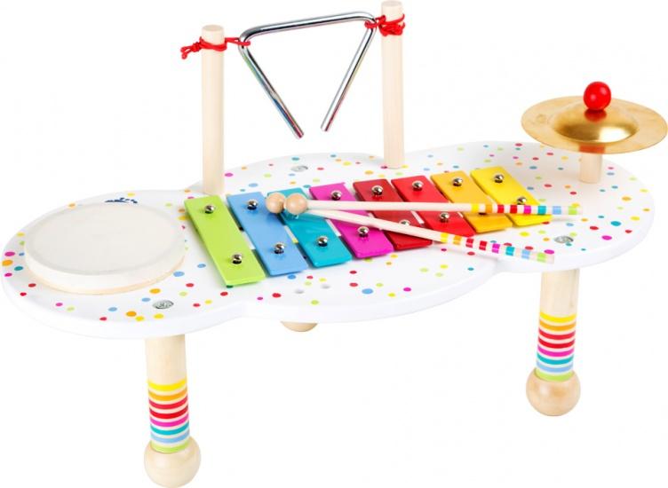 Small Foot muziektafel met vier instrumenten 44 x 23 x 25 cm