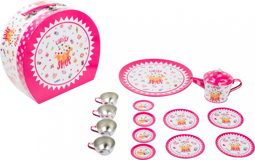 Small Foot Picknickkoffer met thee set roze 16 delig