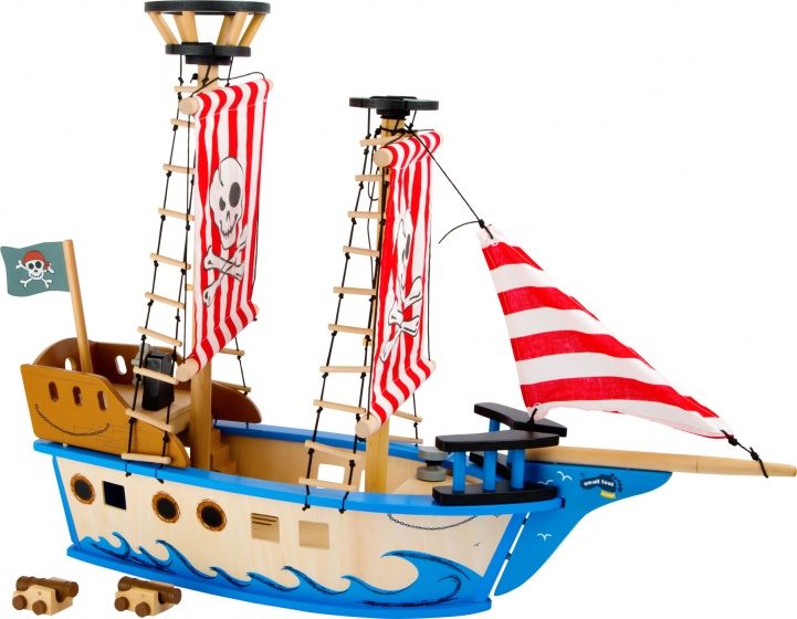 Small Foot Piratenschip Jack hout rood 67 x 52 cm