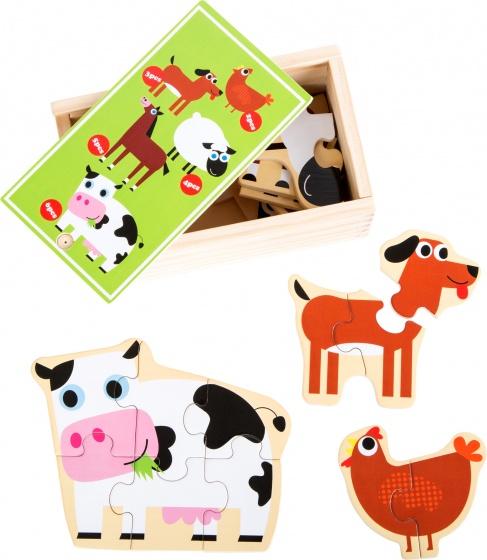 Small Foot puzzel dieren op de boerderij