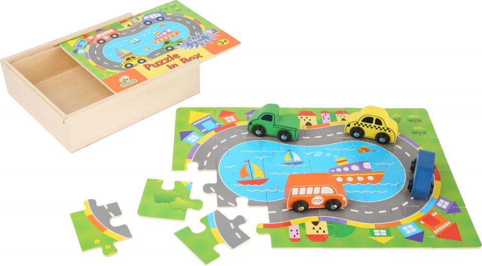 Small Foot puzzel verkeer hout 28 stukjes 22 x 18 cm