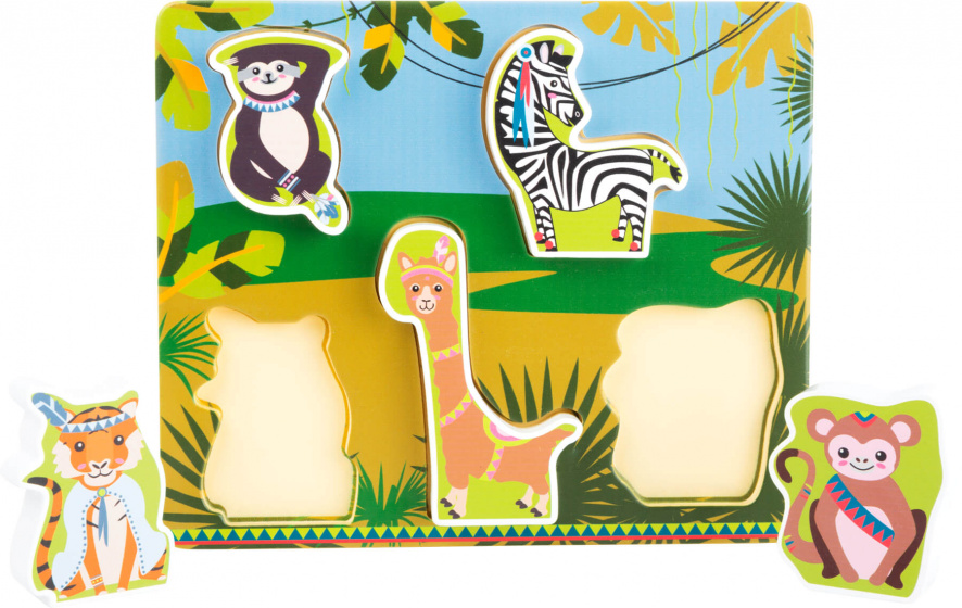 Small Foot Sorteer puzzle Jungle dieren