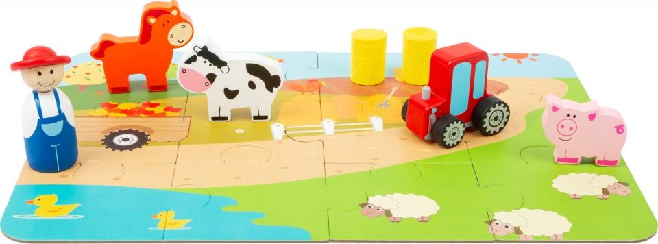 Small Foot speelset Farm in een koffer junior 14 delig