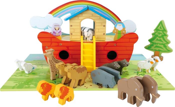 Small Foot Speelset van hout ''Ark van Noach''