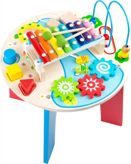 Small Foot speeltafel met muziekinstrument hout hoogte 47cm