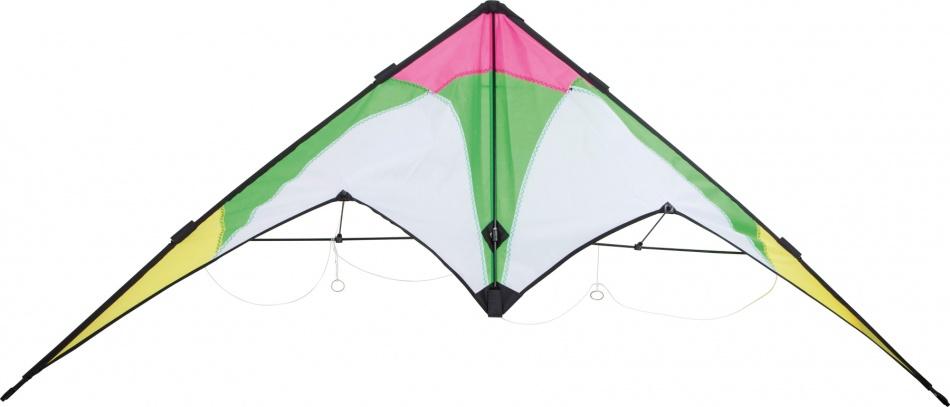 Small Foot Stuntvlieger Spring 150 x 60 cm groen/wit/geel
