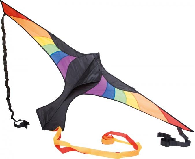 Small Foot Stuntvlieger Rainbow 180 x 72 cm zwart/multicolor