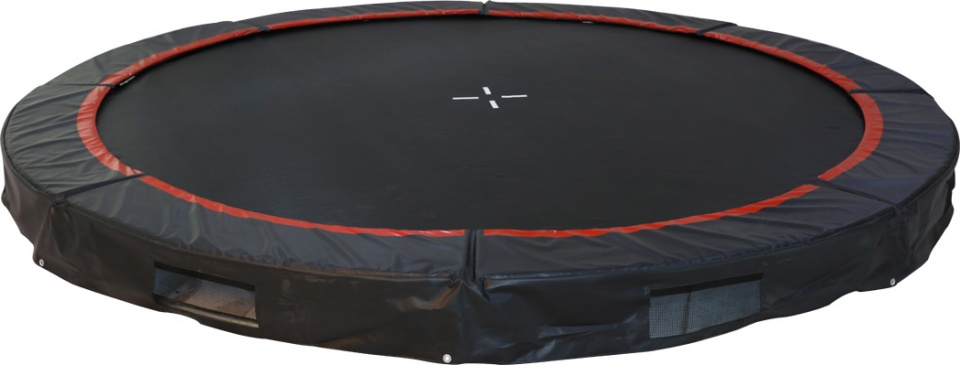 Small foot trampoline in ground 366 cm 191386