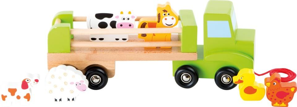 Small Foot Transportwagen met trailer hout 8 delig