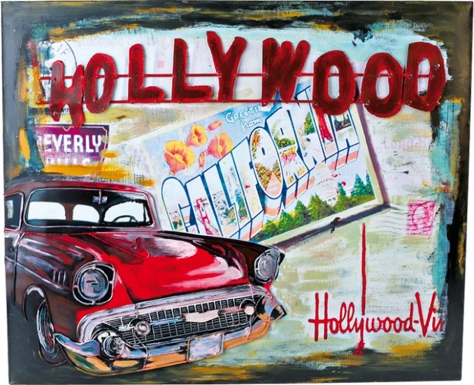VINTAGE DECORATIE BLIKBORD HOLLYWOOD