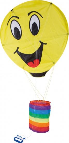 Small Foot Vlieger Smiley kunststof 88 x 93 cm geel