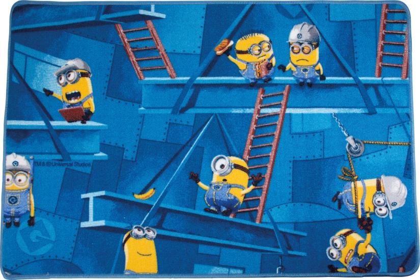 Small Foot Vloerkleed Minions 120 x 80 cm blauw/geel