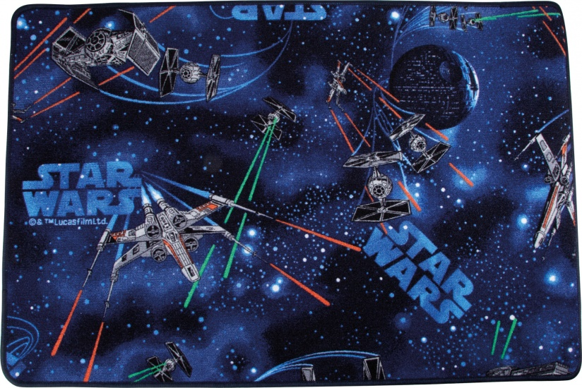 Small Foot Vloerkleed Star Wars 120 x 80 cm zwart