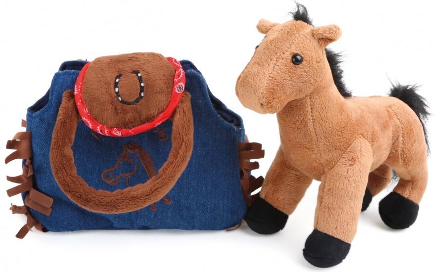 Small Foot Western handtas met pony pluche 2 liter kopen