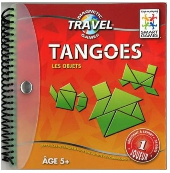 Smart Games Tangoes tangram reisspel rood (Franstalig)